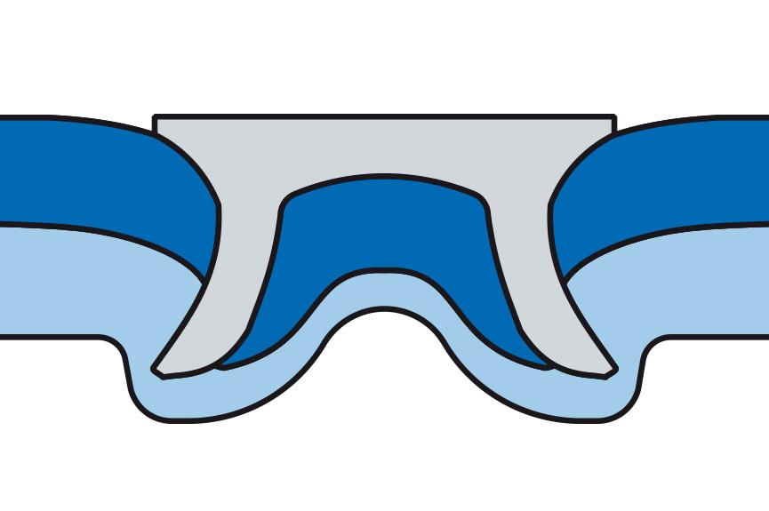 Diagram of a RIVSET® self-pierce rivet joint