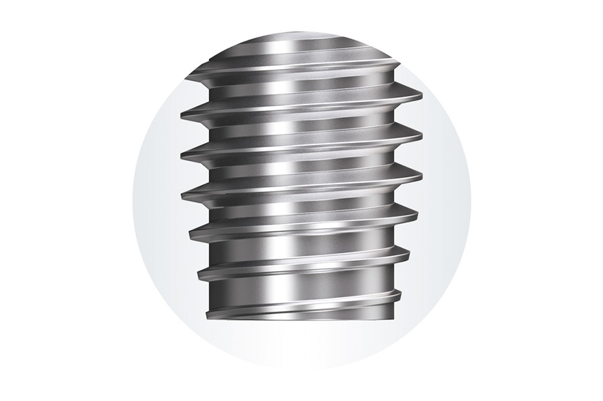 EJOT ALtracs® Plus thread forming zone